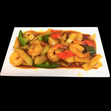 Crevettes sautées à la thaïlandaise